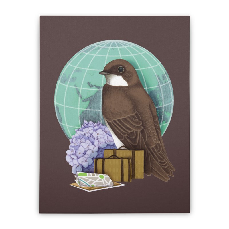 Little World Traveler Home Stretched Canvas by Kris Efe's Artist Shop