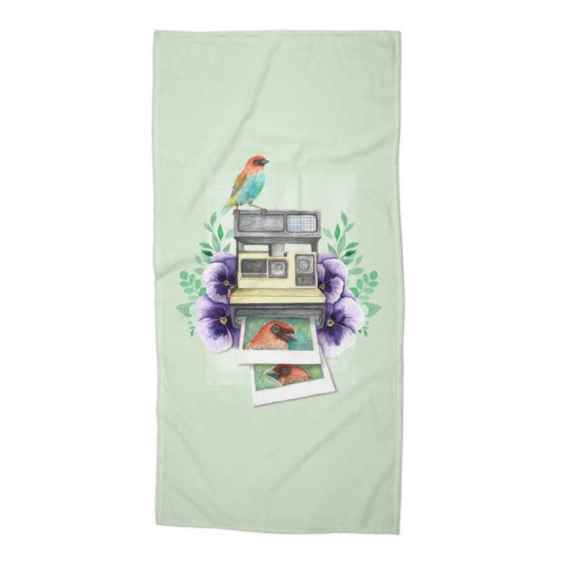 Selfie Accessories Beach Towel by Kris Efe's Artist Shop