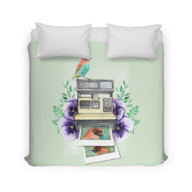 Selfie Home Duvet by Kris Efe's Artist Shop