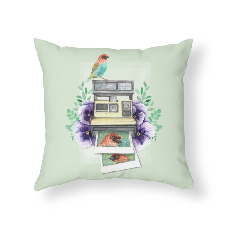 Selfie Home Throw Pillow by Kris Efe's Artist Shop
