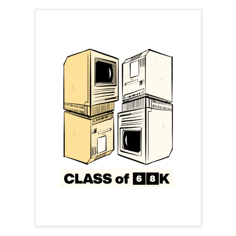 Class of 68K Home Fine Art Print by Krishna Designs
