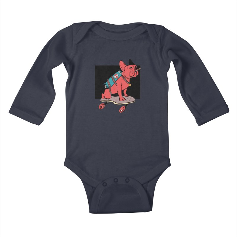 Rocket Dog Kids Baby Longsleeve Bodysuit by Krishna Designs