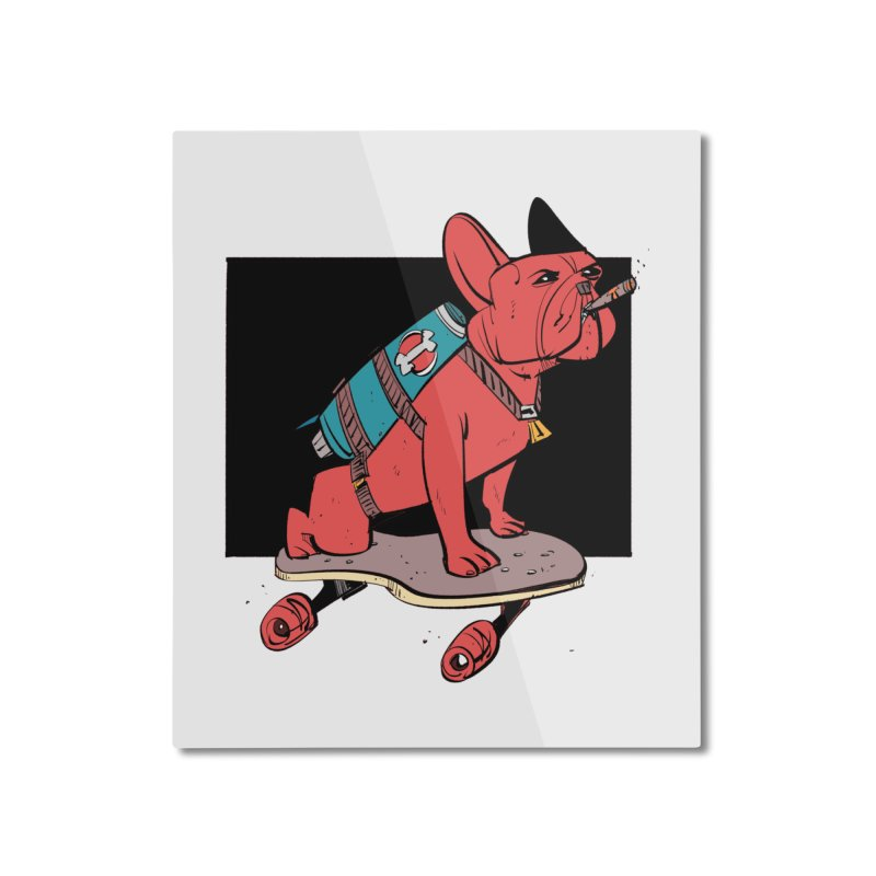 Rocket Dog Home Mounted Aluminum Print by Krishna Designs