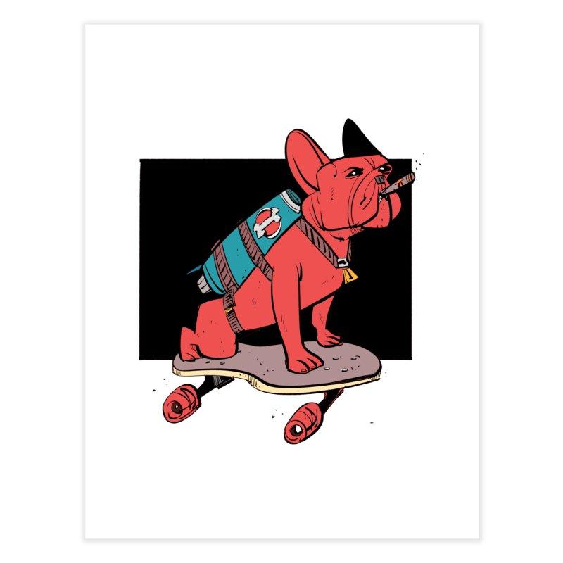 Rocket Dog Home Fine Art Print by Krishna Designs