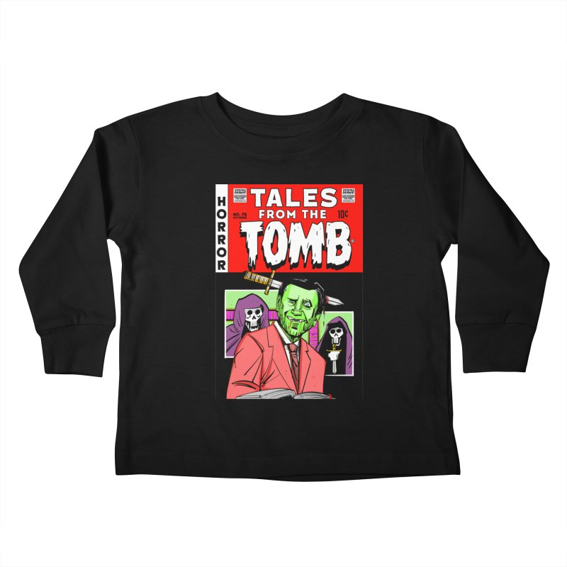 Tales from the Tomb Kids Toddler Longsleeve T-Shirt by Krishna Designs