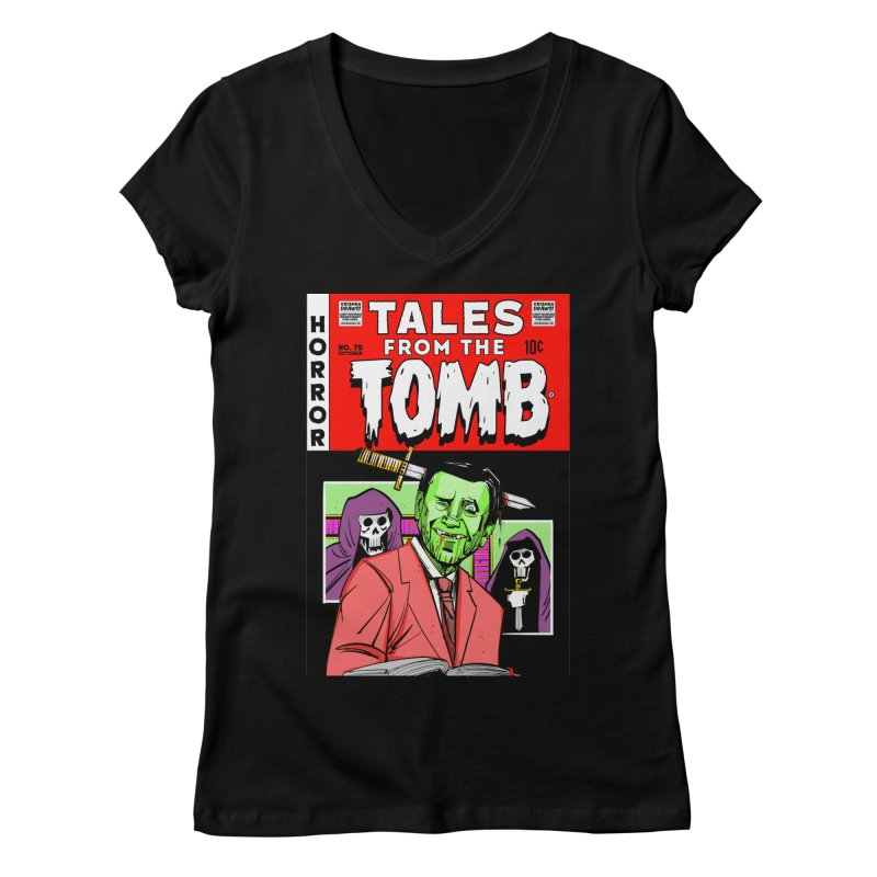 Tales from the Tomb Women's V-Neck by Krishna Designs