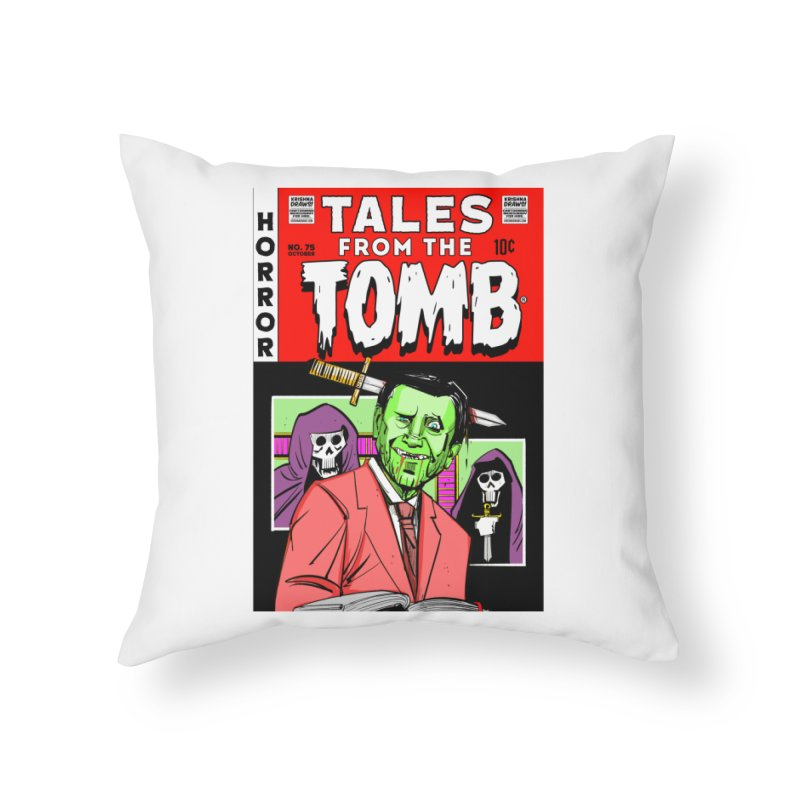 Tales from the Tomb Home Throw Pillow by Krishna Designs