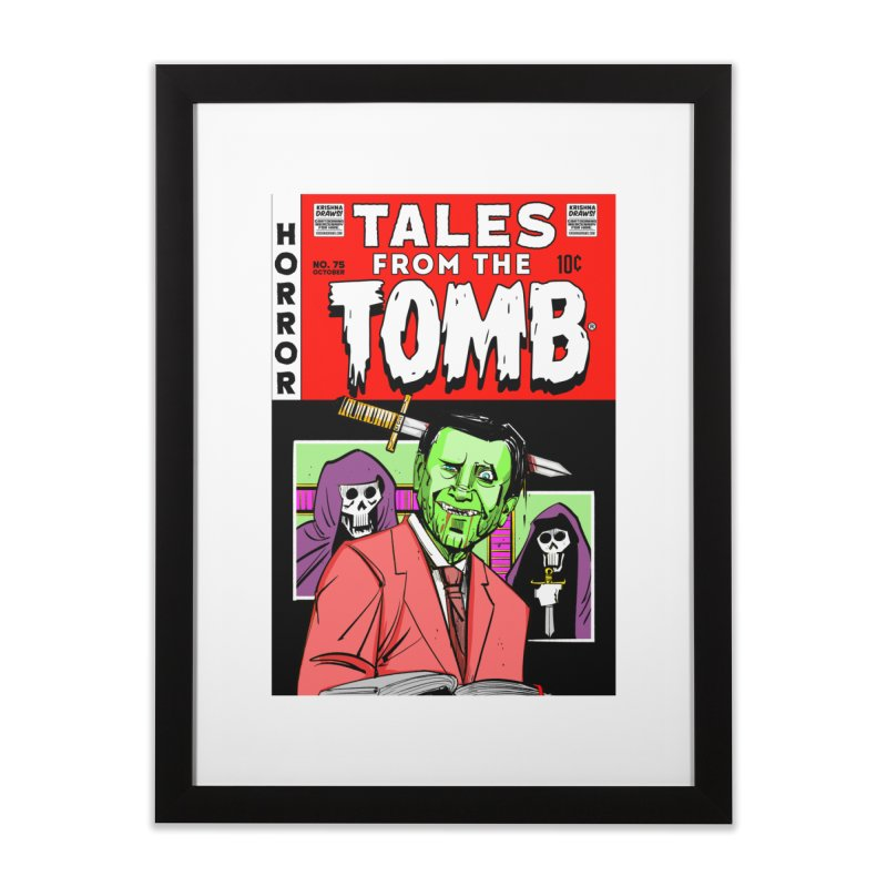 Tales from the Tomb Home Framed Fine Art Print by Krishna Designs