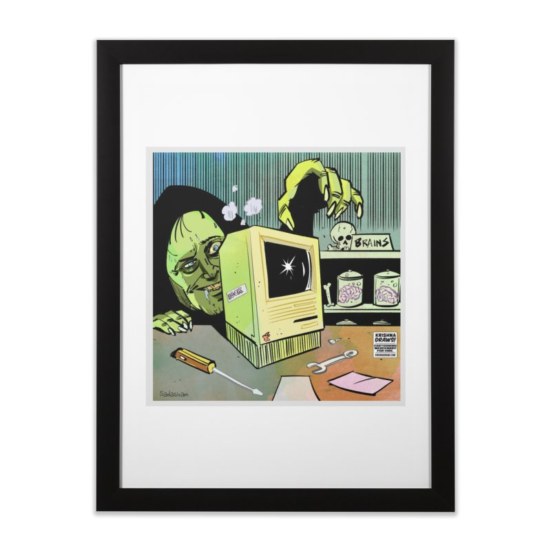 Igor's CPU Home Framed Fine Art Print by Krishna Designs