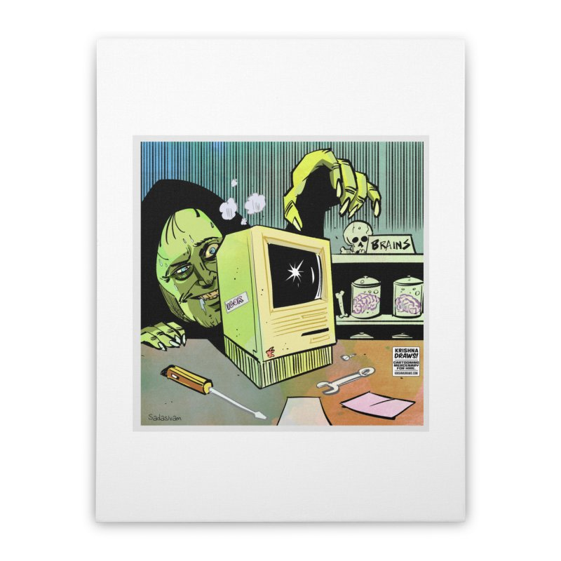 Igor's CPU Home Stretched Canvas by Krishna Designs