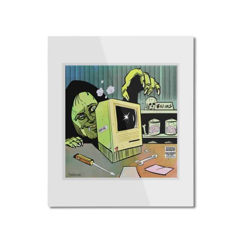 Igor's CPU Home Mounted Aluminum Print by Krishna Designs
