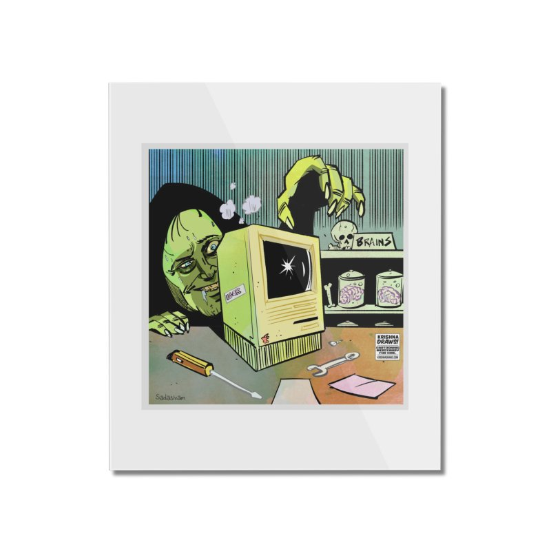 Igor's CPU Home Mounted Acrylic Print by Krishna Designs