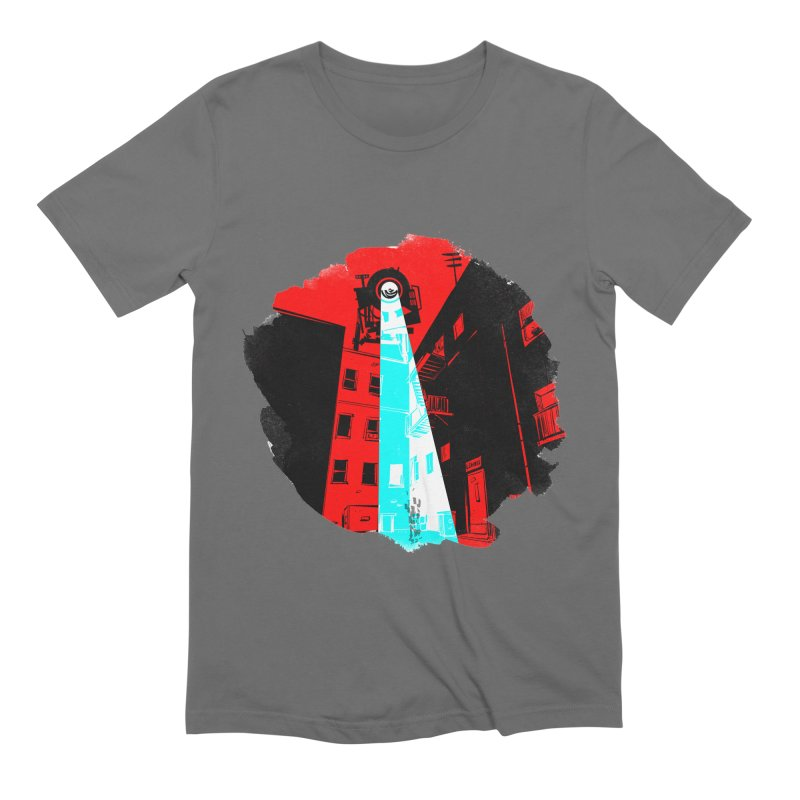 Robot Attack! Men's T-Shirt by Krishna Designs