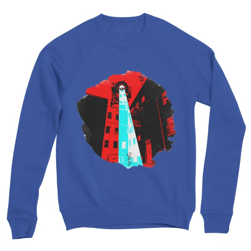 Robot Attack! Men's Sweatshirt by Krishna Designs
