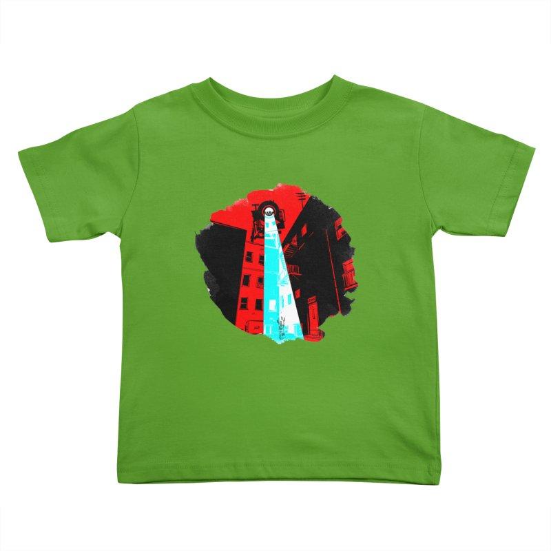 Robot Attack! Kids Toddler T-Shirt by Krishna Designs