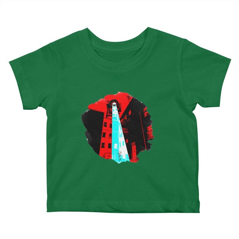 Robot Attack! Kids Baby T-Shirt by Krishna Designs