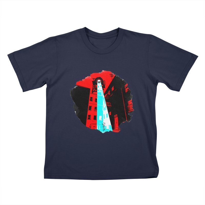 Robot Attack! Kids T-Shirt by Krishna Designs