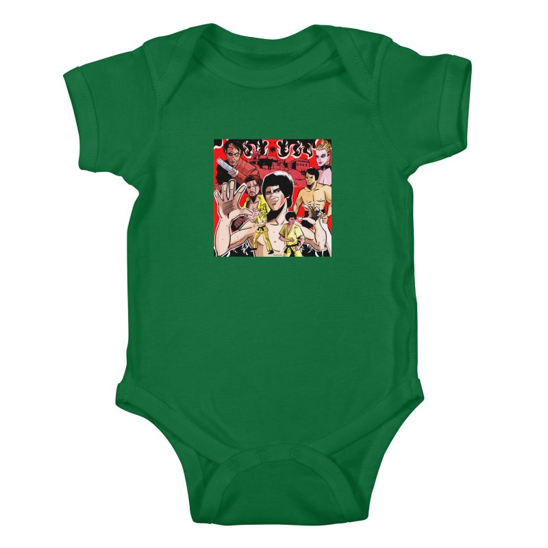 Dragon Warrior Kids Baby Bodysuit by Krishna Designs