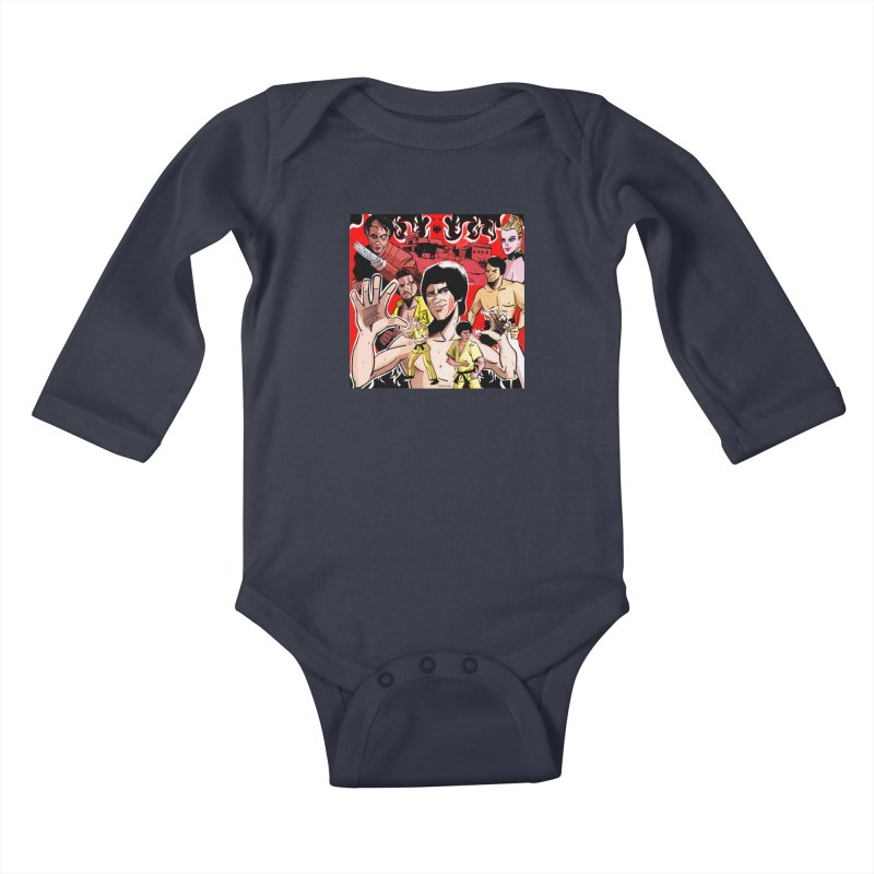 Dragon Warrior Kids Baby Longsleeve Bodysuit by Krishna Designs