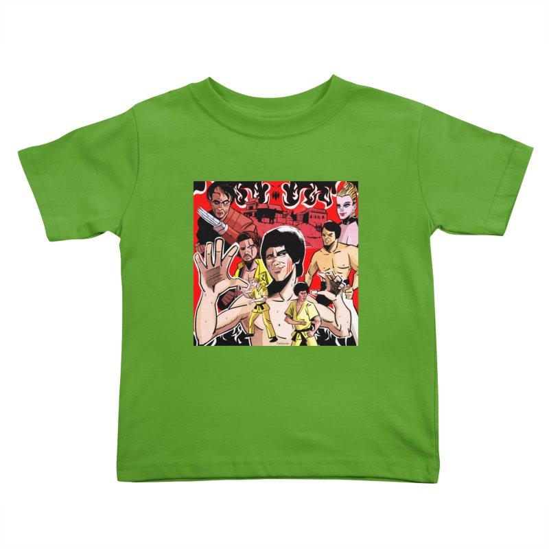 Dragon Warrior Kids Toddler T-Shirt by Krishna Designs