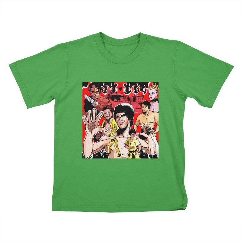 Dragon Warrior Kids T-Shirt by Krishna Designs