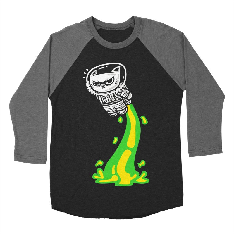 Space Cat  Men's Baseball Triblend T-Shirt by krisren28's Artist Shop