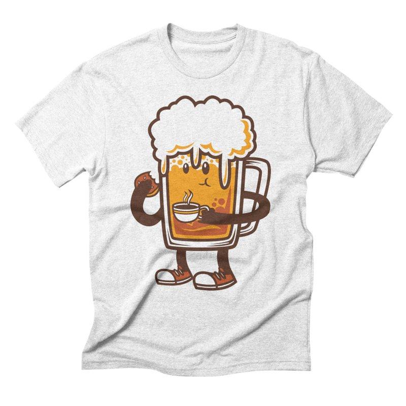 Doughnut Biting Coffee Drinking Beer  Men's Triblend T-shirt by krisren28's Artist Shop
