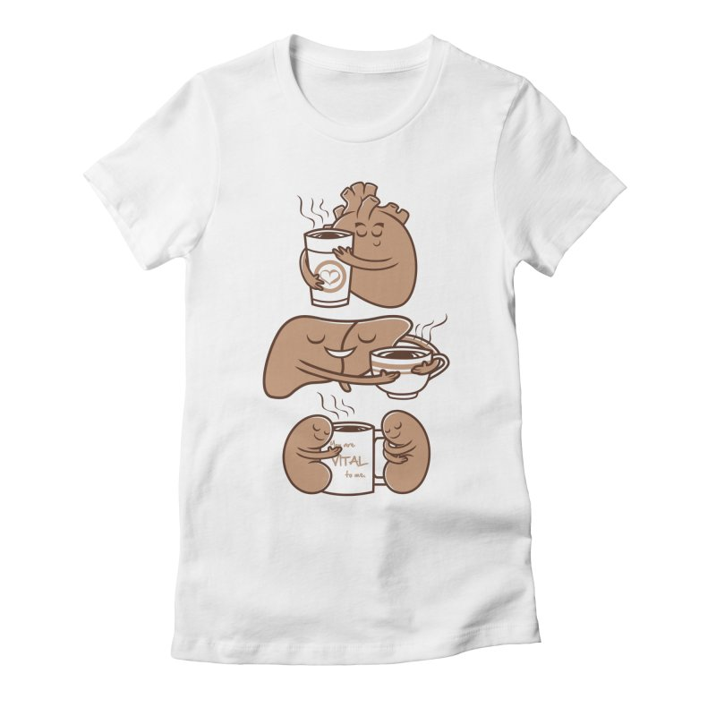 Coffee is Vital to me Women's Fitted T-Shirt by krisren28's Artist Shop