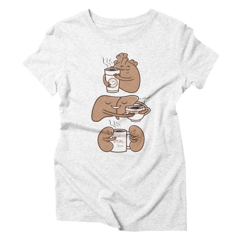 Coffee is Vital to me Women's Triblend T-shirt by krisren28's Artist Shop