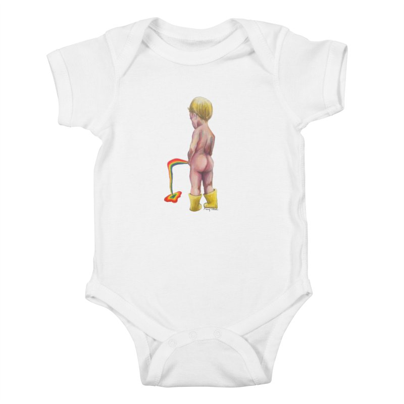 Pissing Rainbows Kids Baby Bodysuit by Whiski Tee