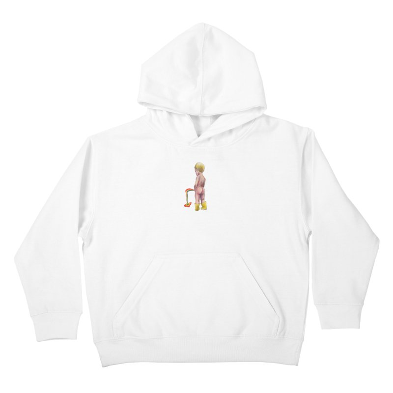 Pissing Rainbows Kids Pullover Hoody by Whiski Tee