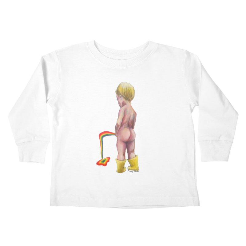 Pissing Rainbows Kids Toddler Longsleeve T-Shirt by Whiski Tee