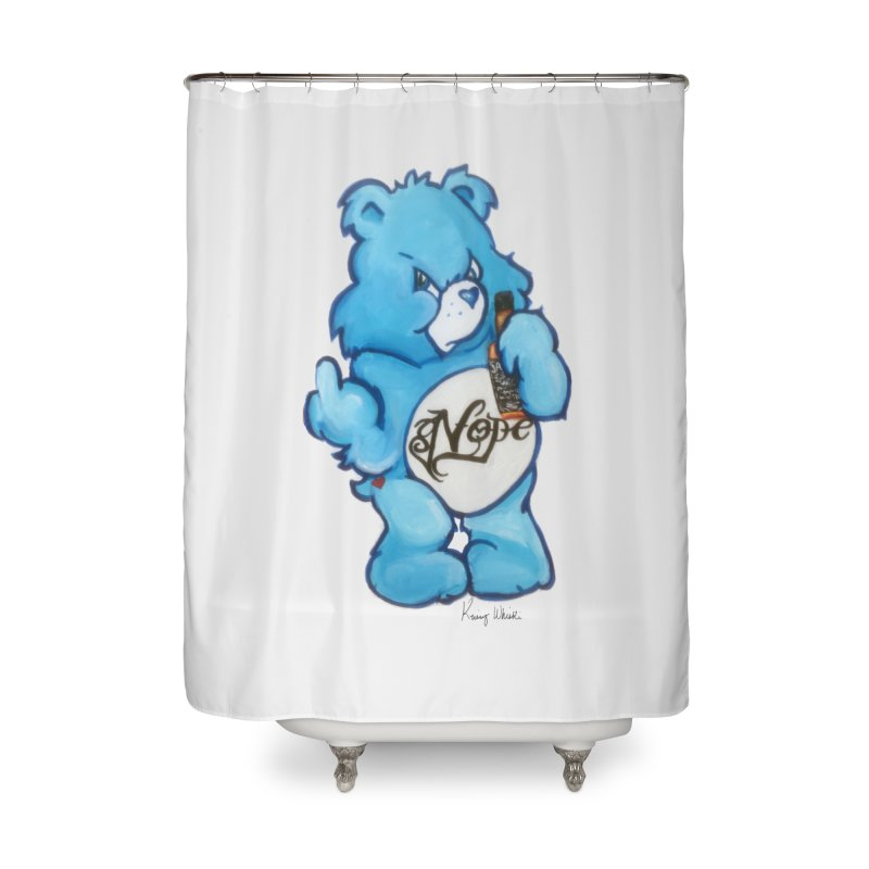 Don't Care Bear Home Shower Curtain by Whiski Tee