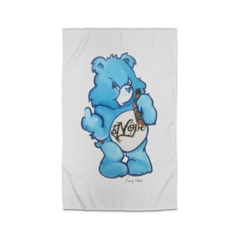 Don't Care Bear Home Rug by Whiski Tee