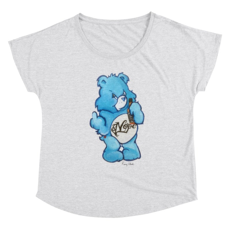Don't Care Bear Women's Scoop Neck by Whiski Tee