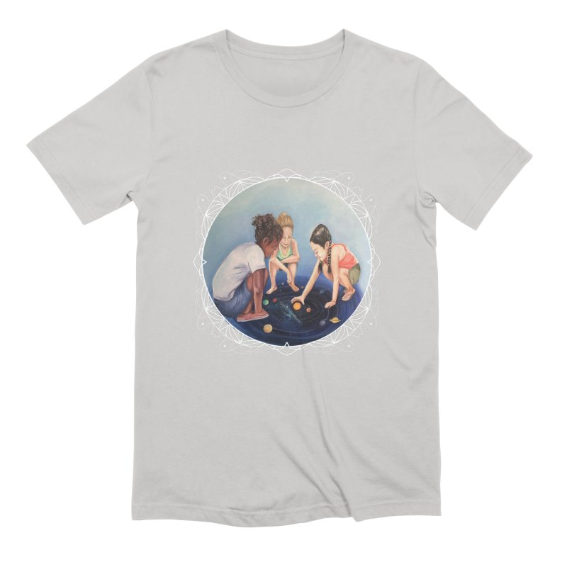 Star Children Playing marbles with the Universe Men's T-Shirt by Whiski Tee