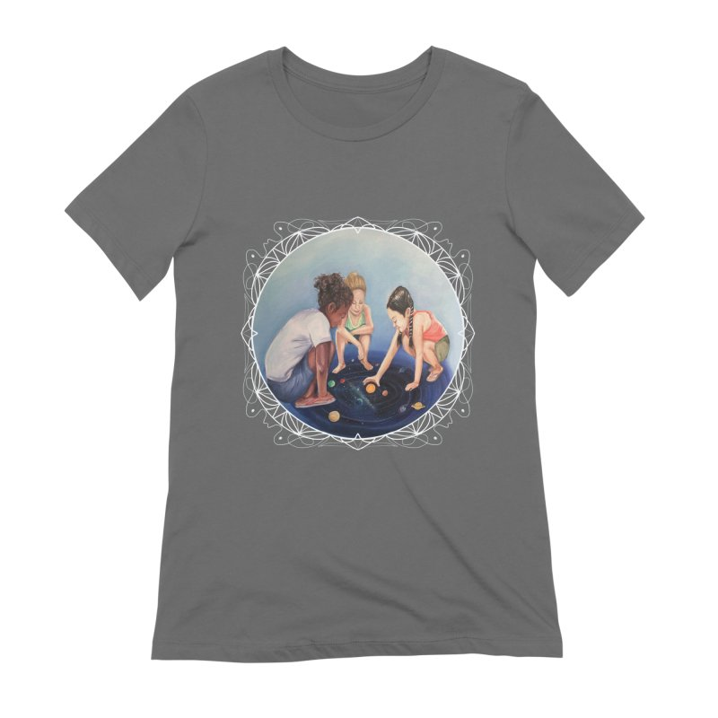 Star Children Playing marbles with the Universe Women's T-Shirt by Whiski Tee