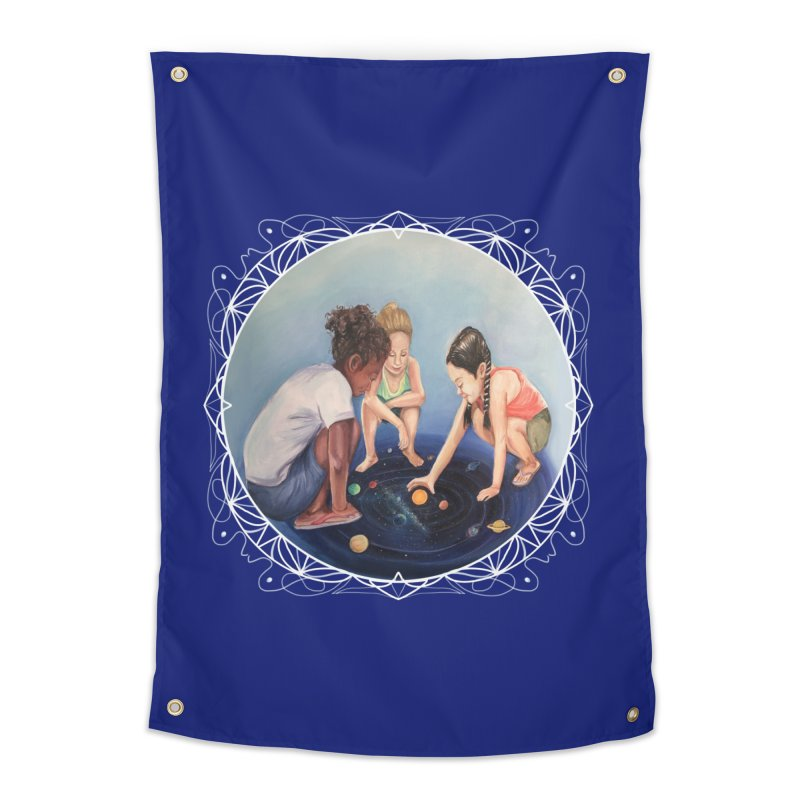 Star Children Playing marbles with the Universe Home Tapestry by Whiski Tee