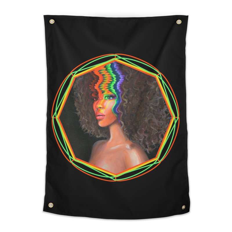 Trippy Wanderlust Home Tapestry by Whiski Tee