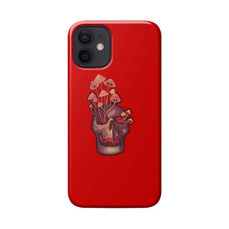 Entheogen Shroom Skull Accessories Phone Case by Whiski Tee