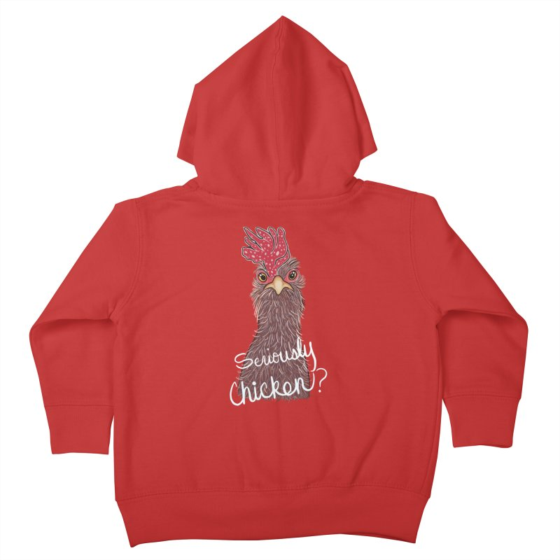 Seriously Chicken Kids Toddler Zip-Up Hoody by Whiski Tee