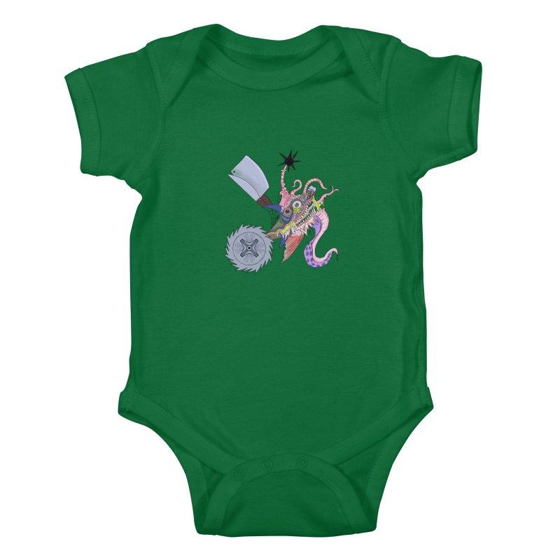 Abomination Fish Lowbrow Shirt Kids Baby Bodysuit by Whiski Tee