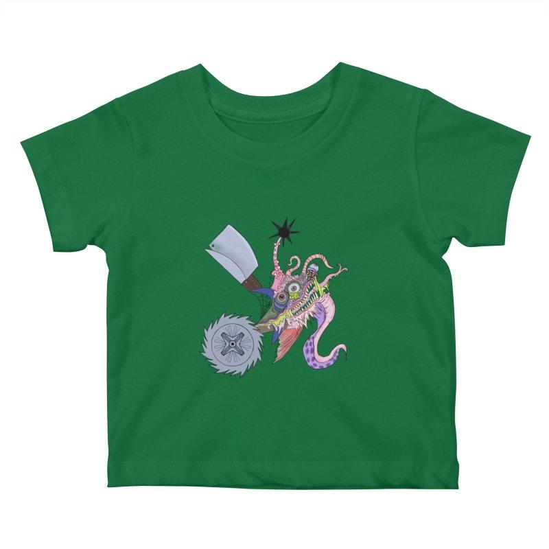 Abomination Fish Lowbrow Shirt Kids Baby T-Shirt by Whiski Tee