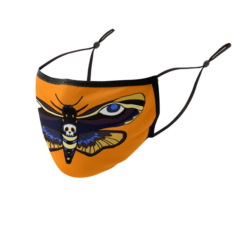 Death Head Moth Accessories Face Mask by Whiski Tee