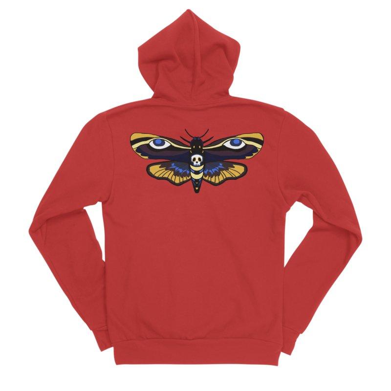 Death Head Moth Women's Zip-Up Hoody by Whiski Tee