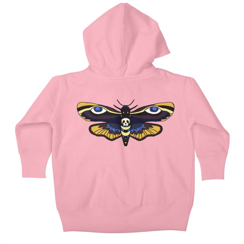 Death Head Moth Kids Baby Zip-Up Hoody by Whiski Tee
