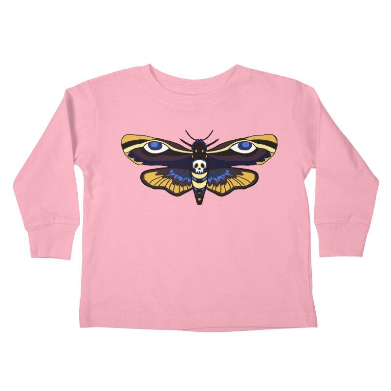Death Head Moth Kids Toddler Longsleeve T-Shirt by Whiski Tee