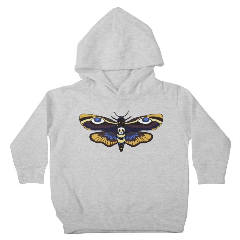 Death Head Moth Kids Toddler Pullover Hoody by Whiski Tee