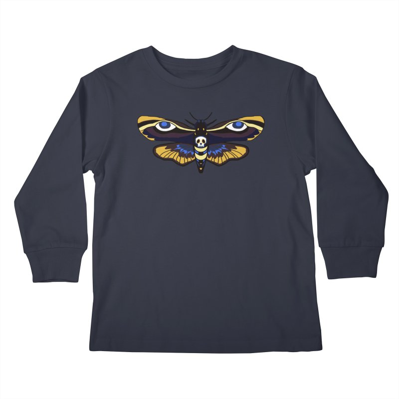 Death Head Moth Kids Longsleeve T-Shirt by Whiski Tee