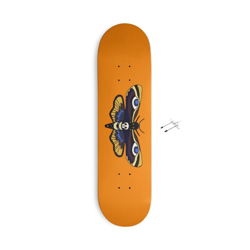Death Head Moth Accessories Skateboard by Whiski Tee